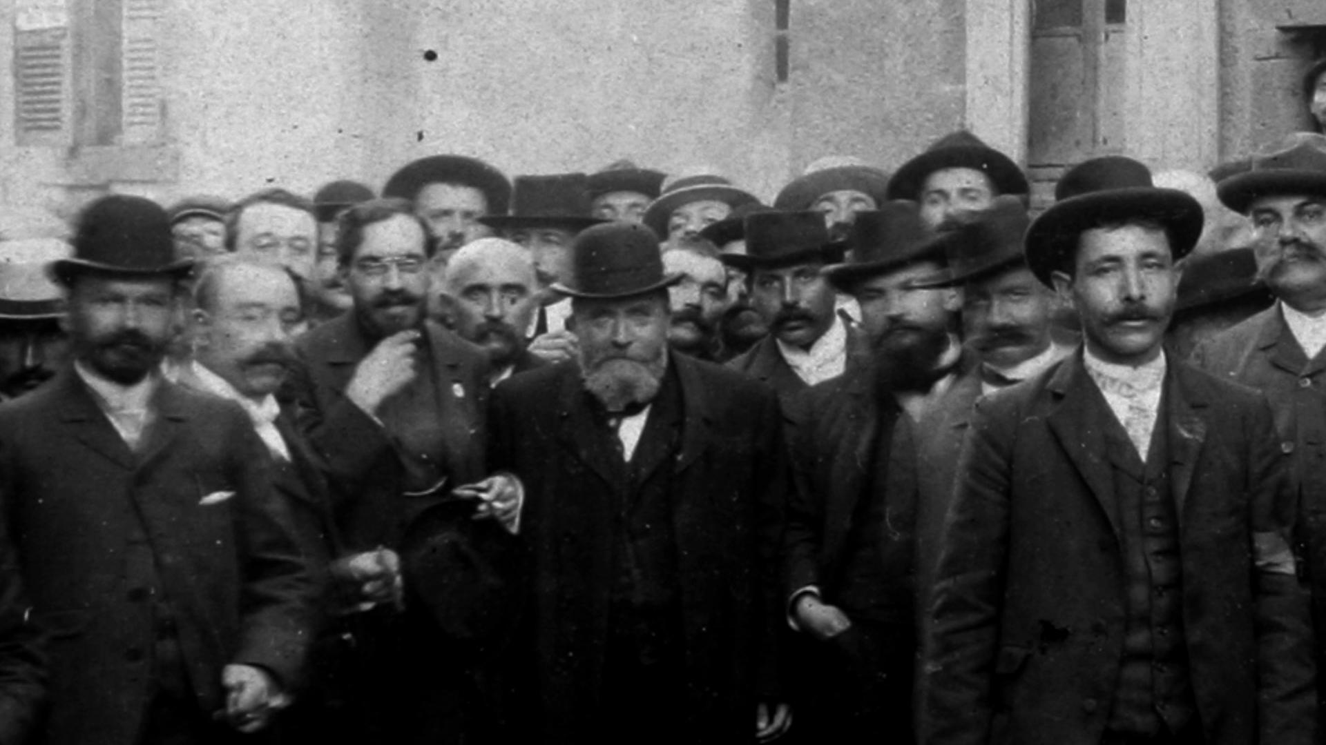 Jean Jaurès (à Chamalières, 1906) [Archives Départementales du Puy-de-Dôme]